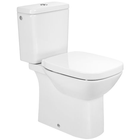 Pack WC Debba SQUARE S.H, 3/6L cuvette Rimless frein chute - Blanc