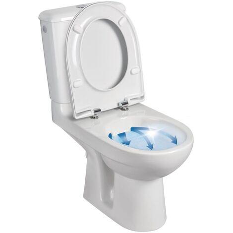 Pack WC GEBERIT PRIMA 6 Rimfree mŽcanisme gŽnŽral sortie horizontale abattant standard blanc RŽf. 08325400000201