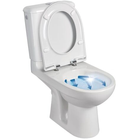Pack WC GEBERIT PRIMA 6 Rimfree mecanisme general sortie horizontale abattant standard blanc Ref. 08325400000201
