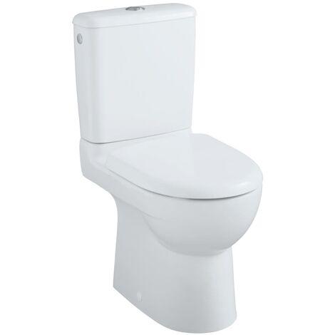 Pack WC GEBERIT PRIMA multi compact mécanisme général blanc, Réf.08331300000201