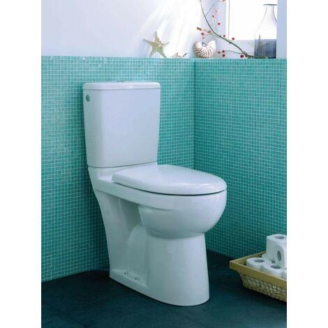 Pack WC GEBERIT PRIMA SH, pack WC sureleve a sortie horizontale avec abattant recouvrant a fermeture standard Ref.08311300000201