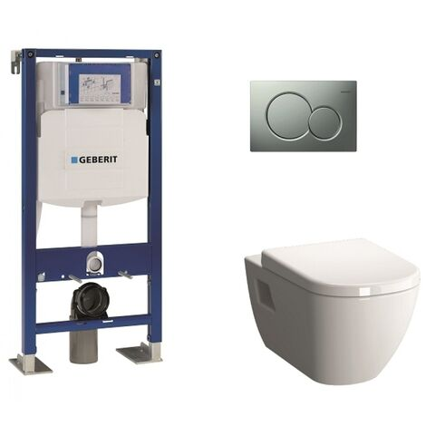 Pack WC Geberit UP320 + Cuvette D-Light Vitraflush 2.0 + Plaque Sigma Chromé mat