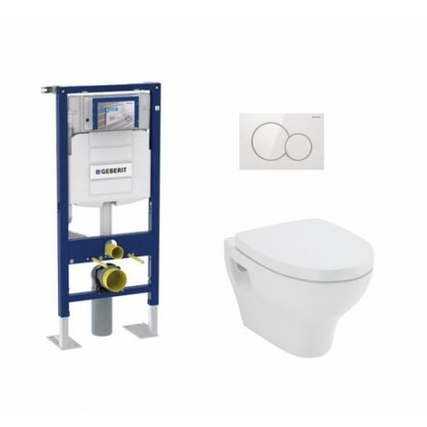 Pack WC Geberit UP320 + cuvette POP2+ plaque Sigma Blanche