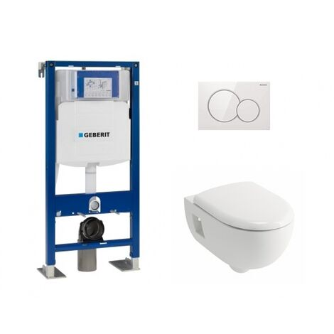 Pack WC Geberit UP320 + Cuvette Prima+ ALLIA + Plaque Sigma blanche