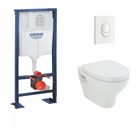 Pack WC Grohe Rapid SL + Cuvette POP2 + Plaque Blanche