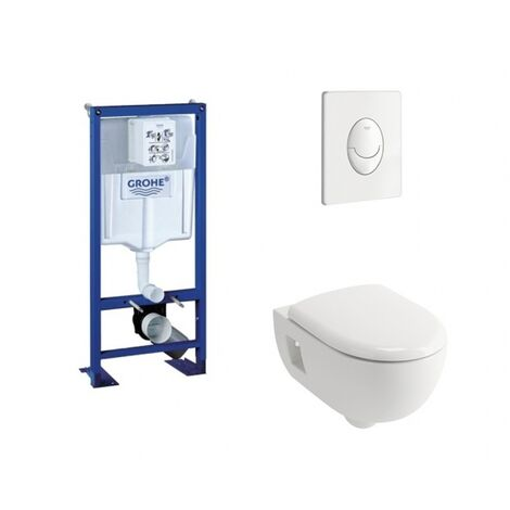 Pack WC Grohe Rapid SL + Cuvette Prima+ ALLIA + Plaque Blanche