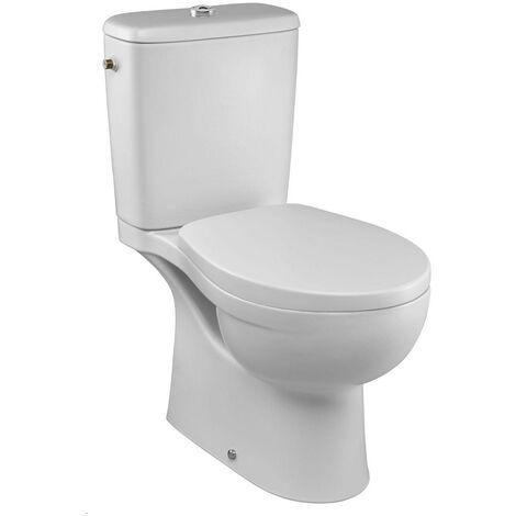 Pack WC Patio sans bride sortie verticale abattant standard - Blanc