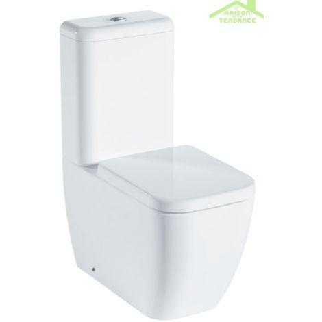Pack WC Rimless à poser LEGEND avec abattant à frein de chute