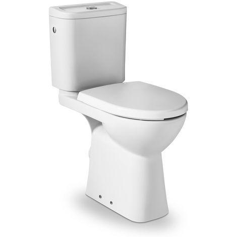 Pack WC surélevé ROCA ACCESS S.H. 3/6L alimentation latérale- Blanc