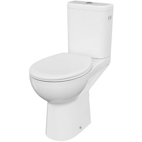 Pack WC surélevé sans bride Ancoswing avec abattant thermodur - Anconetti - Blanc