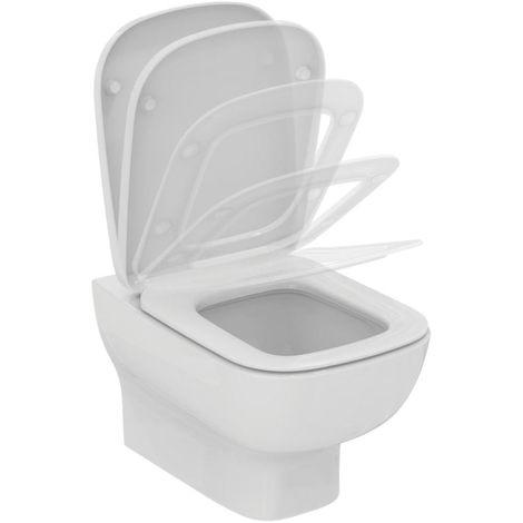 Pack WC suspendu Aquablade - Idéal Standard - Avec abattant frein de chute - 54.5x36.5cm
