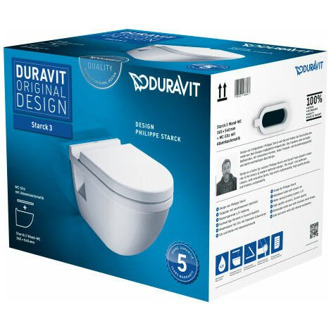 Pack WC suspendu Duravit Starck 3