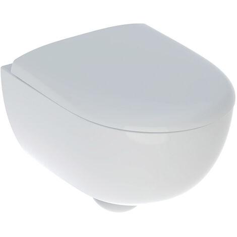 PACK WC suspendu GEBERIT RENOVA Rimfree compact+Abattant 49cm