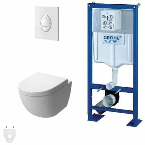 Pack Wc suspendu Grohe Autoportant Daily'o 2 courte