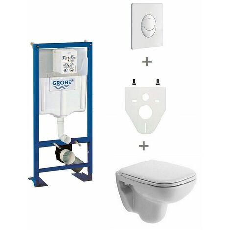 Pack WC suspendu Grohe cuvette courte