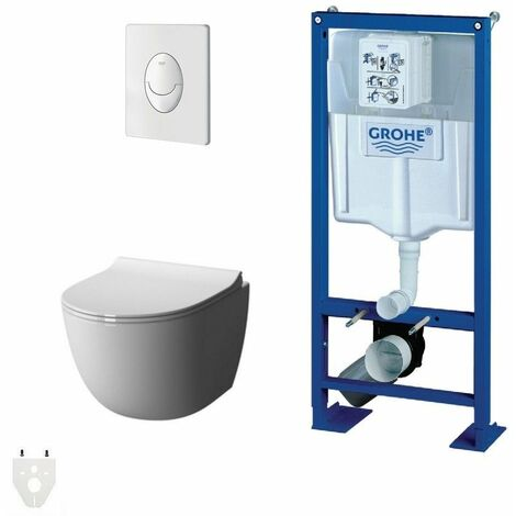 Pack Wc suspendu Grohe Daily'o sans bride courte