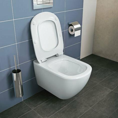 Pack WC suspendu IDEAL STANDARD TESI Aquablade fixations invisibles abattant ultrafin frein de chute Ref.T354601