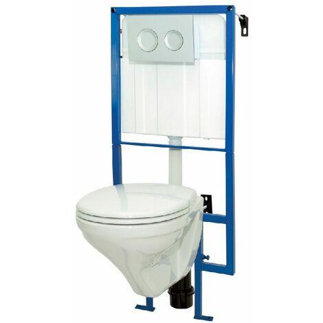 """main image of """"Pack WC suspendu LIVE-UP mécanisme 3/6L et alimentation d'eau silencieuse - Blanc"""""""