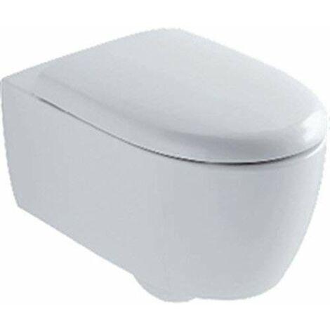 Pack WC suspendu LOVELY à cuvette, abattant à fermeture ralentie, jeu de fixations cachées blanc Réf 08395600000100