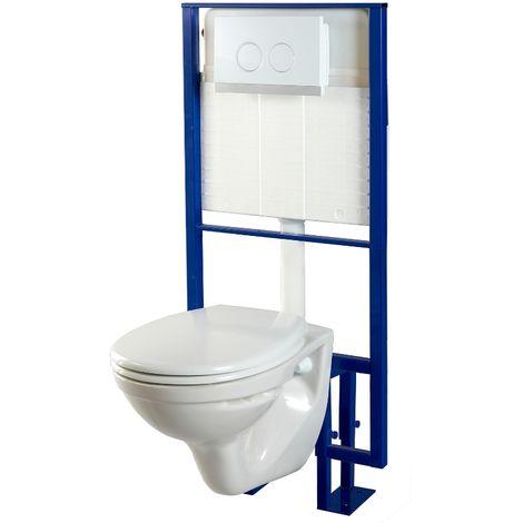 Pack wc suspendu Sol + cuvette wc NF