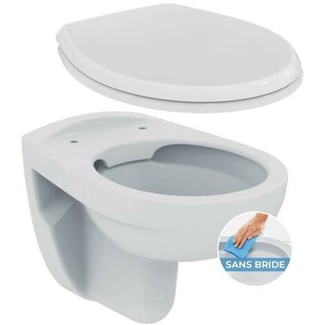 Pack WC suspendu VB sans bride - abattant standard