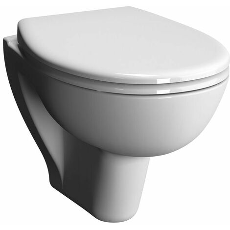 Pack WC suspendu Verseau ALTERNA courte sans bride avec abattant frein de chute, Ref.7749C0036079
