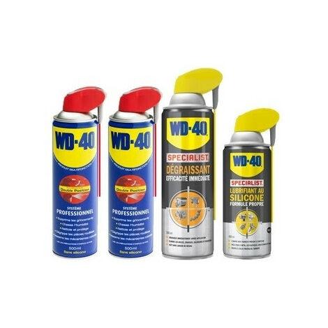Pack WD40 basique: dégrippant, lubrifiant, dégraissant