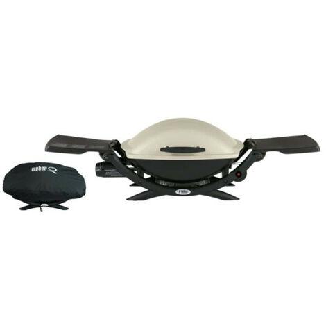 Pack WEBER Barbecue à gaz Q2000 Titanium - une housse protectrice imperméable