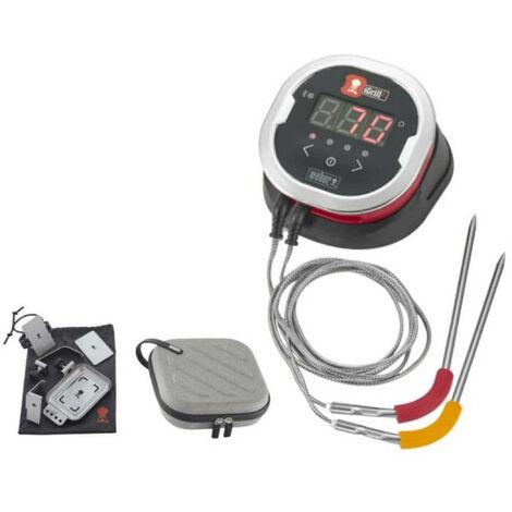 Pack WEBER Thermomètre connecté iGrill 2 - un support pour connect Grilling hub 6 pcs - un étui pour rangement et transport