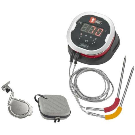 Pack WEBER Thermomètre connecté iGrill 2 - un support pour thermomètre connecté - un étui pour rangement et transport