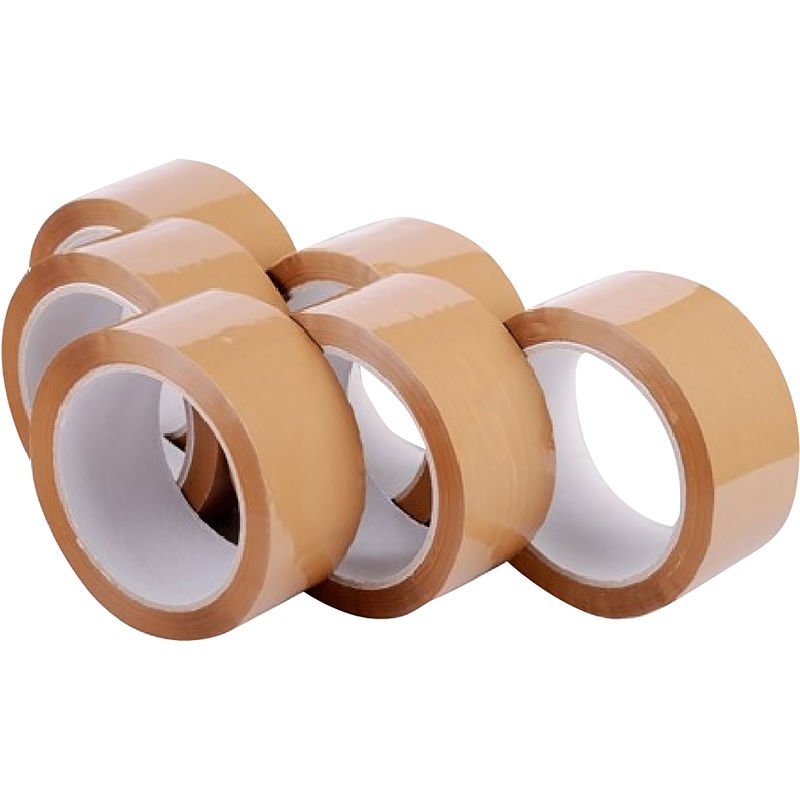 Image of Packaging Polyprop Tape (Pack of 6) (48mm x 66m) (Clear)