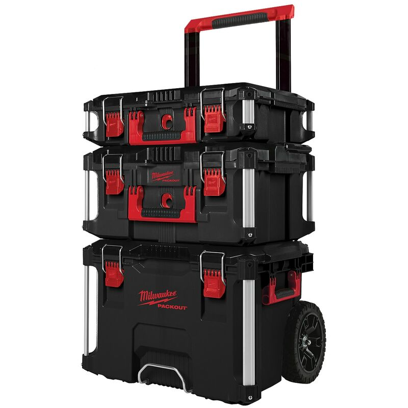 Image of Milwaukee 4932464244 Packout 3 Piece Toolbox System - 4932464244