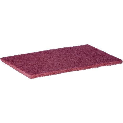 Pad à main en non-tissé, Degré de finesse : très fin, Couleur rouge, Dimensions 158 x 224 mm