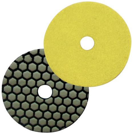 Pad de polissage diamanté à sec auto-agrippant D.125 mm x Gr. 200 - Granit, marbre, pierre naturelle - Diamwood Platinum - -