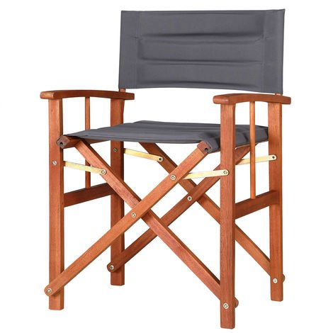 """main image of """"Padded Directors Chair Cannes Padded Wood Chair Indoor Outdoor Chairs Garden Patio"""""""