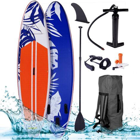 """Paddle gonflable """"Fusion"""" orange 10'6 20psi 140kg double layer MFL 15cm Drop stitch tissé kit complet – planche gonflable SUP 320x76x15cm de BRAST"""