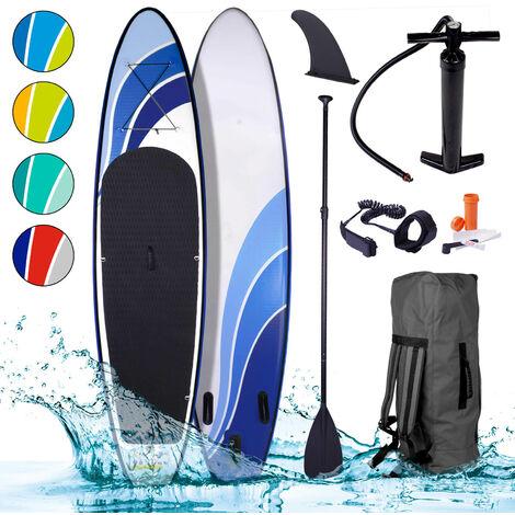 Paddle gonflable Glider 10'6 130kg 20psi drop stich tissé kit complet – planche gonflable SUP 320x76x15cm 1000D x 1000D de BRAST