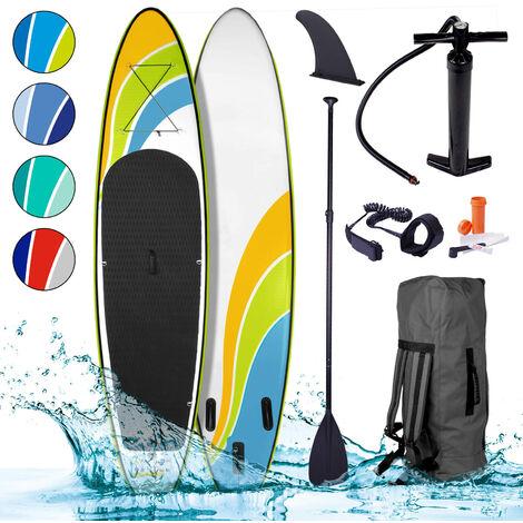 Paddle gonflable HAPPINESS 10`6 130kg 20psi drop stich tissé kit complet – planche gonflable SUP 320x76x15cm 1000D x 1000D de BRAST