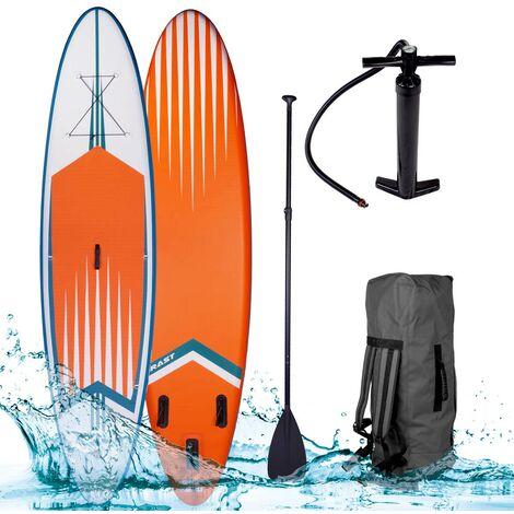 """Paddle gonflable """"PRO"""" orange 10'6 20psi 120kg 15cm drop stitch kit complet – planche gonflable SUP 320x76x15cm de BRAST"""