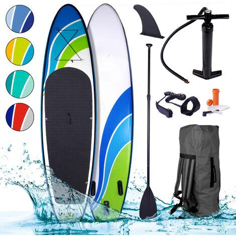 Paddle gonflable SPEED 9`10 115kg 20psi drop stich tissé kit complet – planche gonflable SUP 300x76x15cm 1000D x 1000D de BRAST