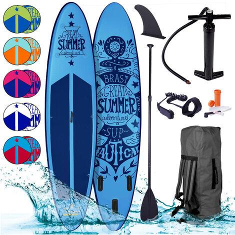Paddle gonflable SUMMER 10'6 120 kg 15 cm kit compl. drop stich - couleurs diverses