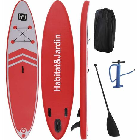 "Paddle ""Sup wave AX3"" - 335 x 80 x 10 cm - Rouge"