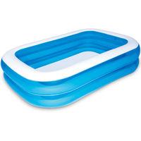 Paddling Pool Bestway Blue Rectangular Family Pool Blue 229 x 152 x 51 cm
