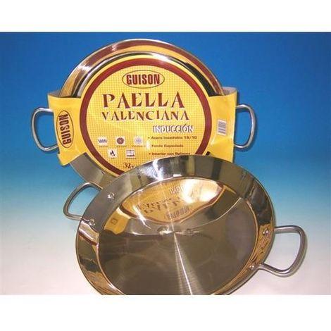 PAELLERA VALEN. INOX. GUISON INDUCCION 40CM (9 RACIONES)