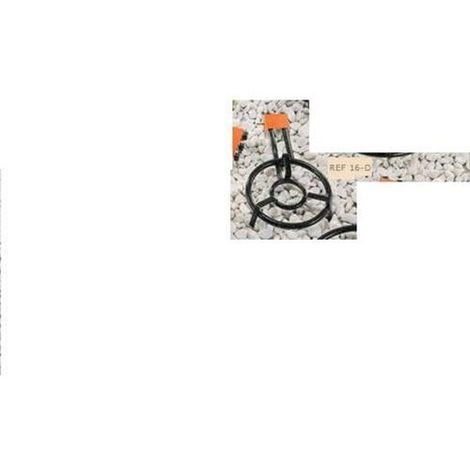 Paellero Gas Butano 2 Fuegos 35cm Rdo H. M350 La Ideal