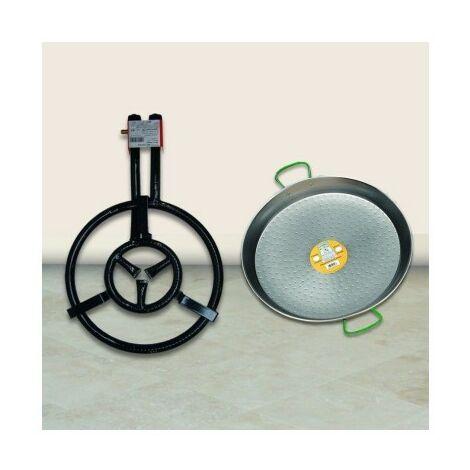 Paellero Gas Butano 2 Fuegos 40Cm + P.43Cm 400