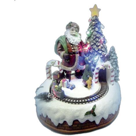 Immagini Natale Movimento.Paesaggio Di Natale Giocoplast Con Babbo Natale E Trenino In Movimento
