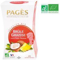PAGES Infusion Brûle Graisses - Coco. Ananas - Bio