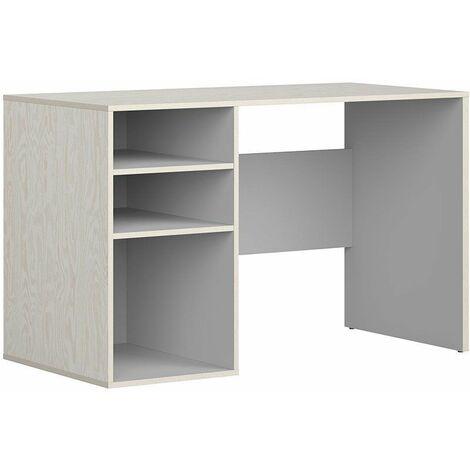 PAIDIA - Bureau style moderne bureau/cabinet/chambre d'ado - 120x75.5x60 - Large plateau - Bureau d'école - Gris