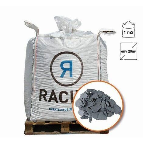 Paillage minéral ardoise grise calibre 40/70 Big bag 800 litres pour 20m2